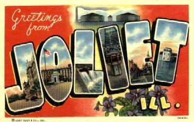 Greetings From Joliet Vintage Postcard