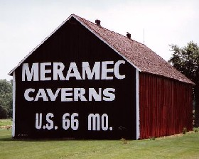 Meramec Caverns barn in Hamel, Illinois
