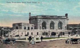 Vintage postcard of Joliet's Union Station.