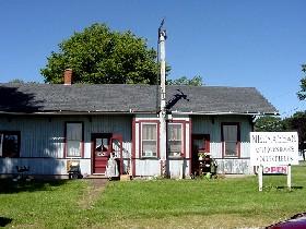 old train depot in McLean, Illinois