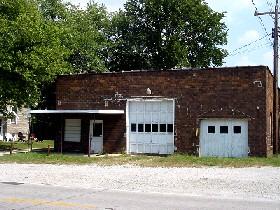 Old garage in Mt. Olive, Illinois