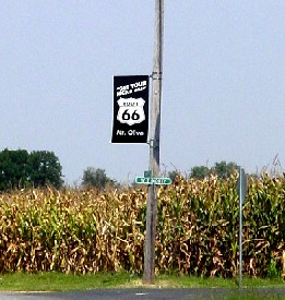 Route 66 in Mt. Olive, Illinois