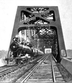 The Thebes Bridge opened in May, 1905