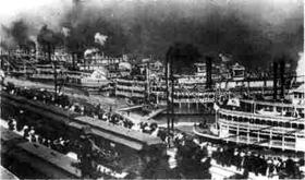 Port at Cairo, Illinois in 1907