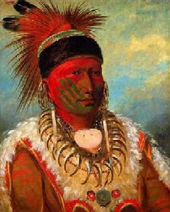 Chief White Cloud painting by George Catlin