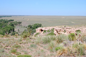 At the top of Point of Rocks in Morton County, Kansas