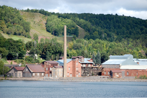 Quincy Mine Smelter from Houghton, Michigan