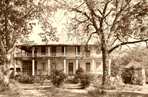 Dr. Rush Nutt's Laurel Hill Plantation House outside of Rodney, Mississippi