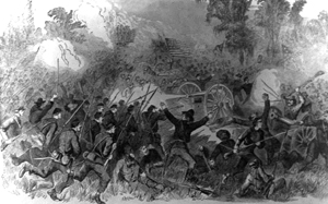 The Battle of Champion Hill near Bolton, Mississippi