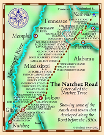 Natchez Trace Map