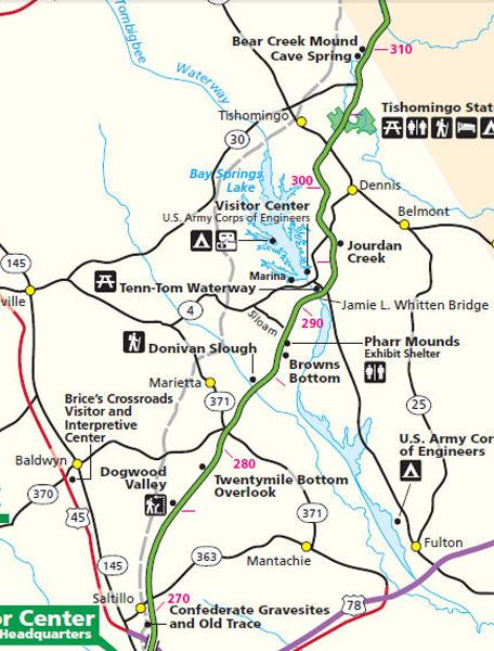 Natchez Trace Points of Interest By Mile Post Page 7