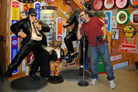 Dave Alexander croons with the Blues Brothers at Bob's Gasoline Alley, Cuba Missouri