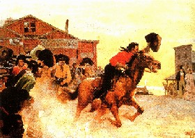 The First Ride - Pony Express Painting