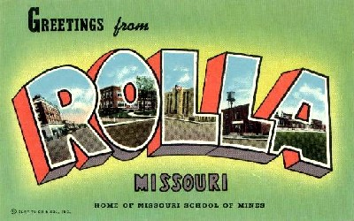 Greetings From Rolla, Missouri