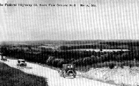 Route 66 from Fairground Hill in Rolla, Missouri