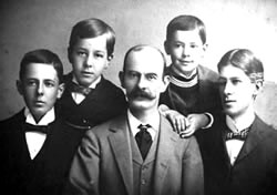 Robert Snyder and his four sons