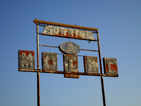 Sunrise Motel Sign in Sullivan, Missouri