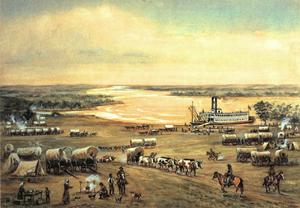 Westport Landing Missouri by William Henry Jackson