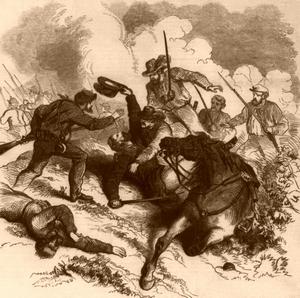 Battle of Wilsons Creek, Missouri, 1861, Frank Leslie's Illustrated Newspaper