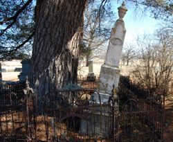 Old Monument in Benton County MO grave yard