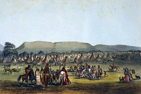 Indians camped nearFort McKenzie, Montana