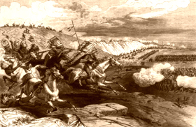 Attacking Sioux, Charles Stanley, 1876