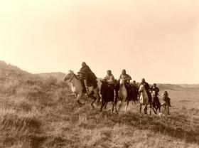 Cheyenne Indians on horses
