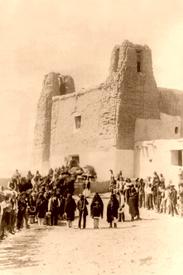 Feast Day at Estevan del Rey Mission, Acoma Pueblo, New Mexico by Charles F. Lummis, 1890