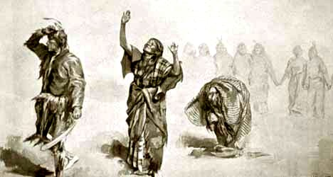 Wovoka paiute medicine man and the ghost dance for Bureau hindi meaning