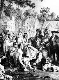 Natchez Indians meet Europeans