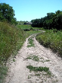 Oregon Trail ruts at Rock Creek, Nebraska