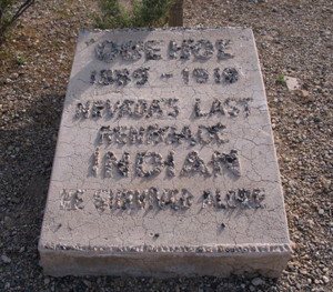 Queho Grave Site. Photo by Nevada Bob, 2010 on Find a Grave