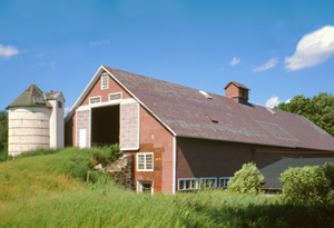 Shaker barn, Enfield, New Hampshire by Jack Boucher, 1978