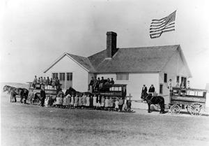 Griffin, North Dakota School in about 1915
