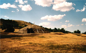 Mandan Lodge at Fort Abraham Lincoln, North Dakota