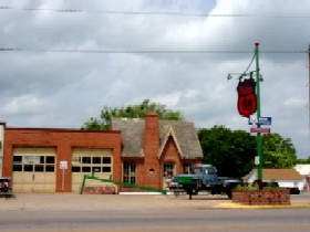 Restored 66 station in Chandler, Oklahoma
