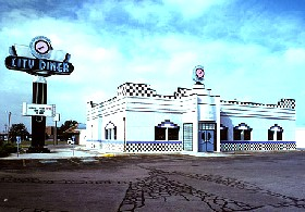 City Diner in Weatherford, Oklahoma.