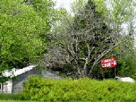 Country Court Sign near White Oak, Oklahoma