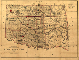 Indian Territory Map, 1887