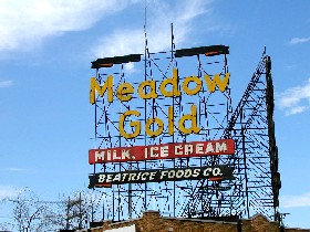 Meadowgold Sign in Tulsa, Oklahoma