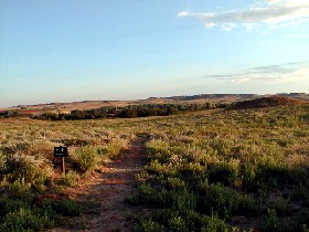 Trail at Washita Battlefield