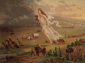 American Progress by John Gast in 1872