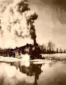 High water train, 1907
