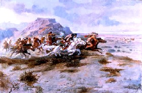 Indian Attack by Charles Marion Russell