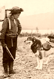 Prospector and dog in 1900