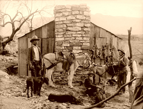 Trappers and hunters in the Old West