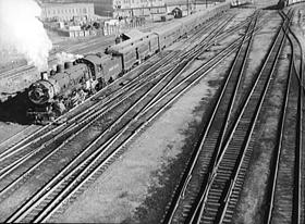Union Pacific Railroad Yard in Omaha, Nebraska