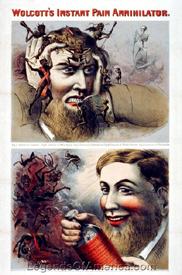 Wolcott's Instant Pain Annihilator, 1863 advertisement