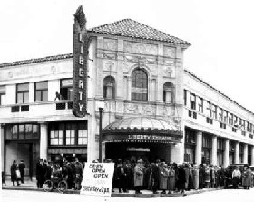 The Liberty Theater on opening night in 1925. in Astoria, Oregon