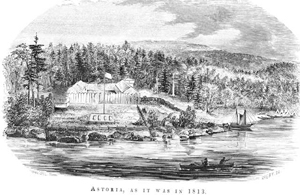 Fort Astoria, 1813, by Gabriel Franchere